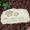 Pet Devotion Garden Stepping Stone - Evergreen Flag & Garden Garden Statues and Outdoor Accents