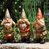 New Creative 3 Piece Wise Gnomes Statue Set (Set of 3)