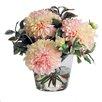 Jane Seymour Botanicals Dahlias in Glass Vase