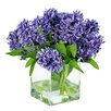 Jane Seymour Botanicals Hyacinths in Glass Vase