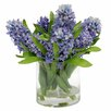 Jane Seymour Botanicals Hyacinths in Round Glass Vase