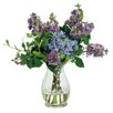Jane Seymour Botanicals Lilacs in Glass Vase Floral Arrangement