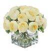Jane Seymour Botanicals Ranunculus Bouquet in Square Glass Vase