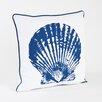 Saro Clam Shell Design Cotton Throw Pillow