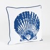 Saro Clam Shell Design Cotton Throw Pillow