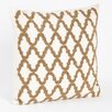 Saro Carmella Beaded Design Throw Pillow