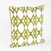 Saro Madelyn Ikat Design Ribbed Throw Pillow