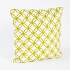 Saro Infinity Design Embroidered Cotton Throw Pillow
