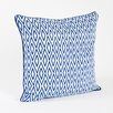Saro Sunda Ikat Design Cotton Throw Pillow