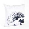 Saro Porcupine Design Cotton Throw Pillow
