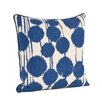 Saro Artistica Inkblot Design Cotton Throw Pillow