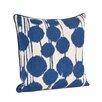 Saro Artistica Inkblot Design Cotton Throw Pillow
