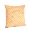 Saro Nirali Appliqué Sheeting Cotton Throw Pillow