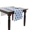 Saro Teardrop Design Printed Table Runner