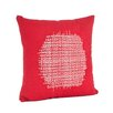 Saro Spice Market Stitched Design Cotton Throw Pillow