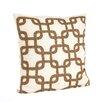 Saro Cordelia Beaded Design Cotton Throw Pillow