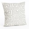 Saro Maize Design Beaded Cotton Throw Pillow