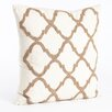 Saro Moroccan Beaded Cotton Throw Pillow