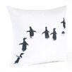 Saro Penguin Cotton Throw Pillow