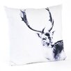 Saro Deer Cotton Throw Pillow