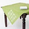 Saro Embroidered Square Table Topper