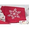 Saro 4 Piece Snowflake Hand Towel Set