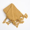 Saro Knitted Chunky Tassels Throw