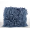 Saro Mongolian Lamb Fur Wool Throw Pillow
