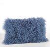 Saro Mongolian Lamb Fur Lumbar Pillow