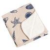 Saro Key Largo Nautical Design with Sherpa Throw Blanket