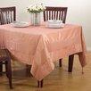 Saro Luminous Mono-tone Tablecloth with Crushed Border