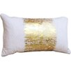 Saro Agatha Metallic Banded Cotton Lumbar Pillow