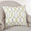 Saro Cord Embroidered Cotton Throw Pillow