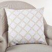Saro Appliqué Design Cotton Throw Pillow
