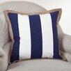 Saro Striped Cotton Throw Pillow