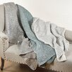 Saro Cassandra Knitted Design Throw Blanket