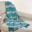 Saro Sevan Woven Bamboo Rayon Throw Blanket