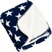 Saro Star Design Sherpa Throw