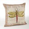 Saro Dragon Fly Throw Pillow