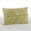 Saro Spring Embroidered Palm Design Cotton Lumbar Pillow