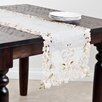 Saro Embroidered And Cutwork Table Runner