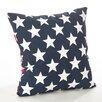 Saro Star Spangled Star and Striped Cotton Throw Pillow