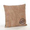 Saro Corium Leather Throw Pillow