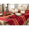 Saro Pumpion Plaid Tablecloth