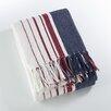 Saro Sevan Striped Soft Cotton Throw