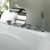 Kokols Triple Handles Deck Mount Faucet with Curve Spout & Hand Shower