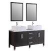 "Kokols 60"" Double Bathroom Vanity Set with Mirror"