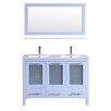 "Kokols 48"" Double Bathroom Vanity with Mirror"