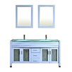 "Kokols Amriel 63"" Double Bathroom Vanity with Mirror"