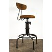 Nuevo Buck Adjustable Height Swivel Bar Stool with Cushion